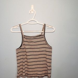Mossimo Black And White Stripped Crop Top